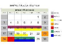 2018年6月广州车牌竞价日历图