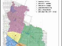 2018年合肥新站区中学学区划分图