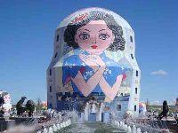 满洲里套娃广场—中、俄、蒙三国交界地