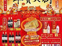 济南华联超市2018春节打折促销海报