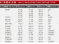 泉州晉江國際機場冬春航季航班時刻表