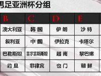 2019足球亚洲杯赛程表一览(北京时间)