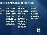 2018世界杯阿根廷队35人大名单公布 梅西