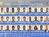 2018世界杯乌拉圭队阵容公布:乌拉圭队