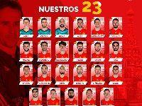 官方公布2018世界杯西班牙队阵容:西班