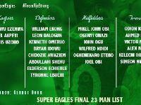 官方公布尼日利亚2018世界杯23人名单阵