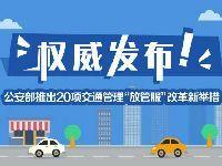 公安部公布20项交通管理改革新措施 小汽