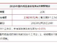 油价四连涨 2月28日92号汽油或上调0.22