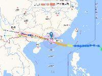 台风天鸽逼近 已登陆广东 实时路径图查