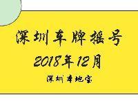 2018年第12期深圳车牌摇号结束 个人中签