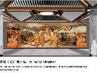 西安地铁4号线车站景观墙图片