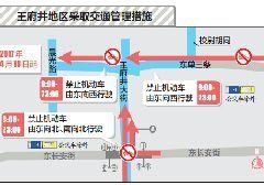 2017年4月18日起北京王府井景山周边多条道路改单行