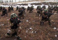 零下23℃他们却为了保家卫国进行训练