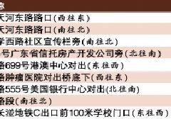 2017年8月11日广州新增17套电子警察 具体位置表一览