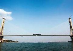 洋浦跨海大桥合龙 预计3月实现通车