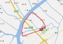 珠海微公交Z113路环线站点、线路图