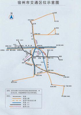 宿州交通区位示意图