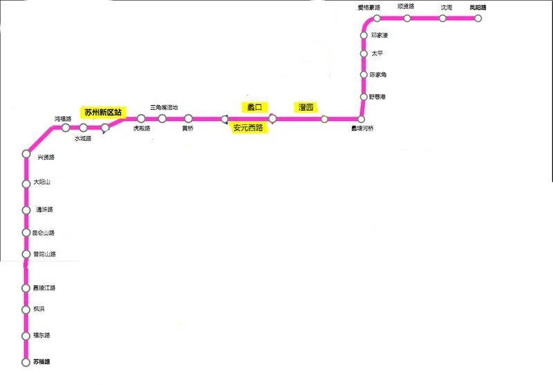 苏州地铁9号线最新线路图