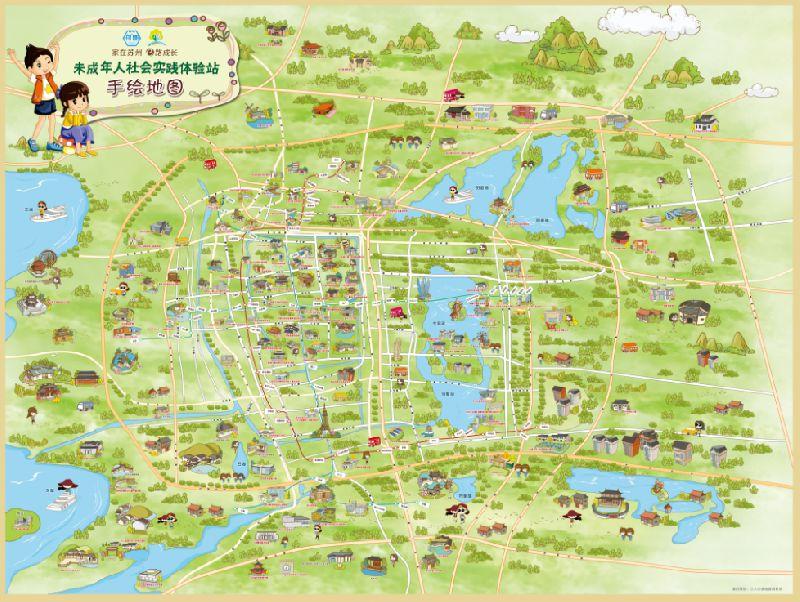 苏州全市未成年人社会实践体验站手绘地图