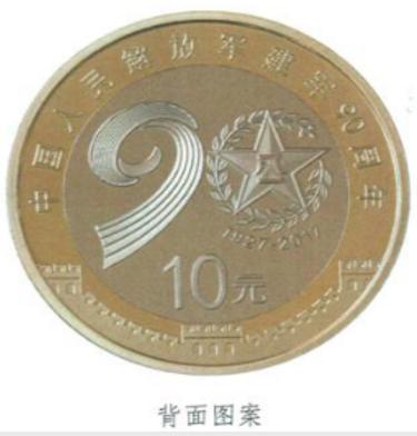 2017建军90周年纪念币一枚多少钱?