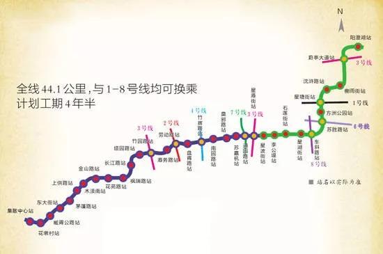 苏州地铁5号线一期线路走向(2018)