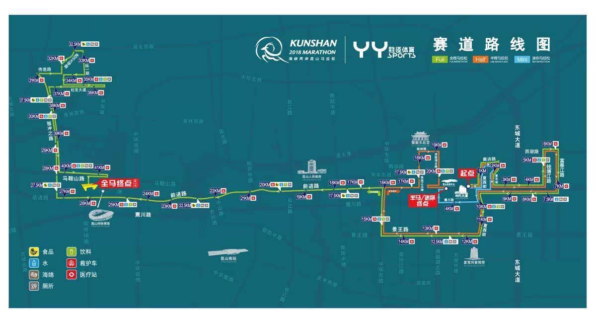 2019昆山马拉松比赛路线图(附沿途景点)- 苏州本地宝