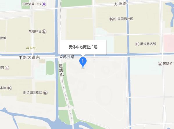 蘇州奧體廣場在哪里?怎么去?