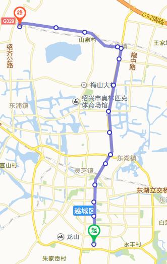 绍兴brt1号线(站点 时刻)