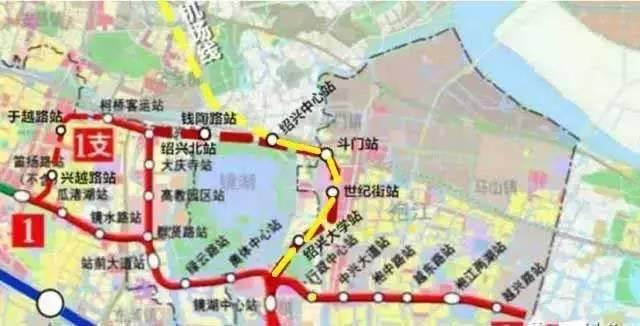 上虞轨道交通规划图