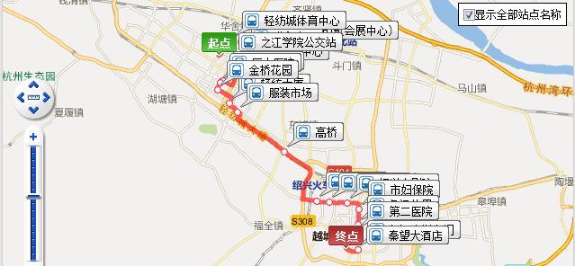 绍兴BRT2号线(站点+时刻)