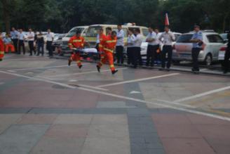 """新城所组织辖区重点单位开展消防专业技能竞赛,上演""""速度与激情"""""""