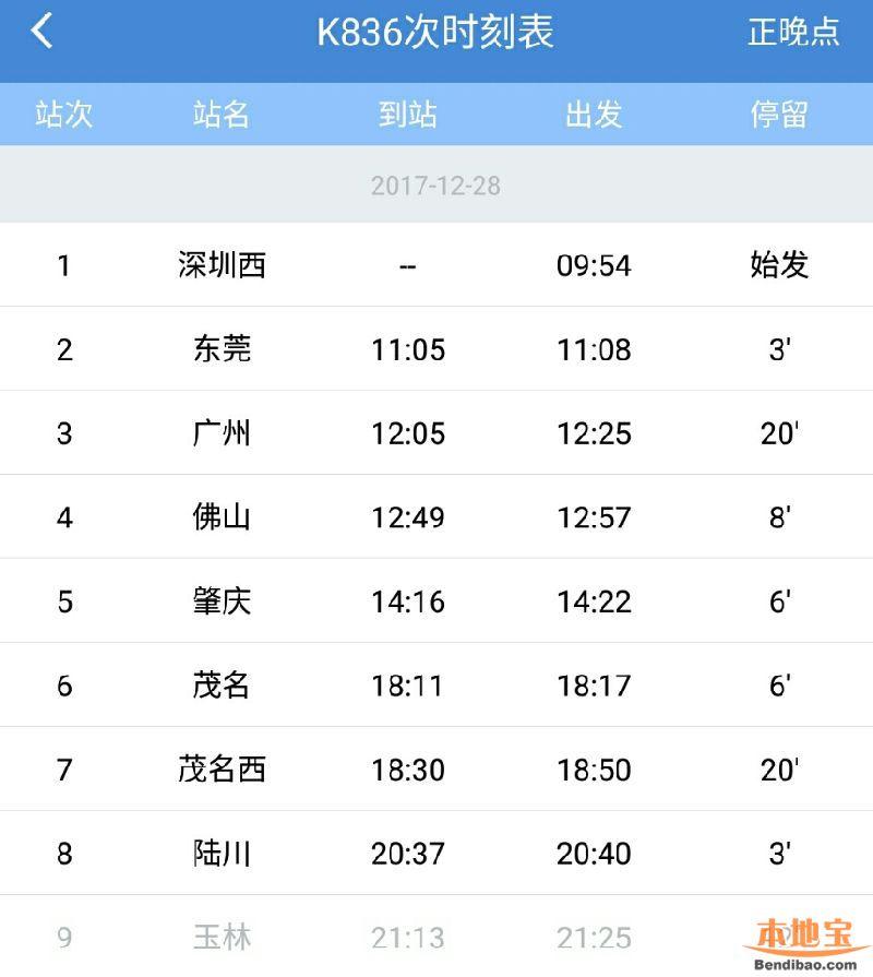 10小时251次_深圳将增开直达陆川火车 附票价、时刻表 - 深圳本地宝