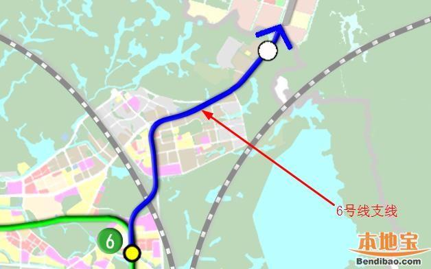 深圳地铁6号线支线(站点+线路图+开通时间+进展)
