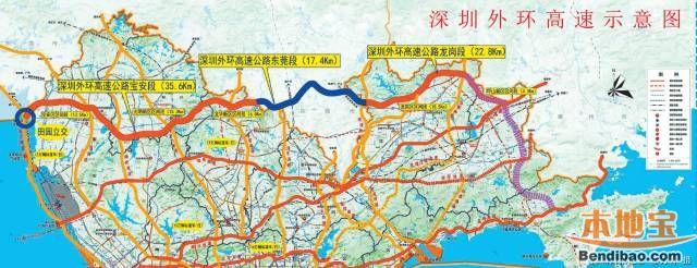 深圳外环高速龙岗段全面施工 预计2019年完工