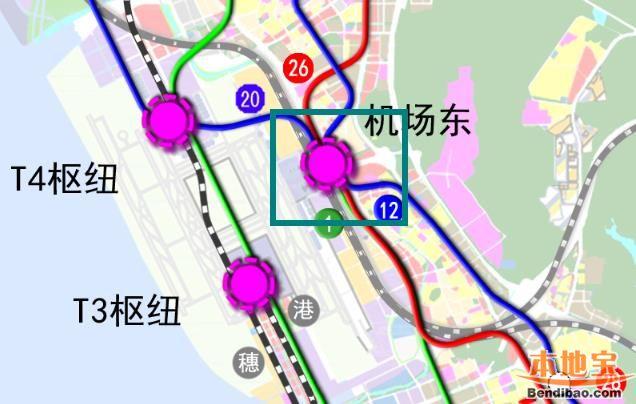 深圳机场东高铁站2018年拟建 4条地铁接入成枢纽