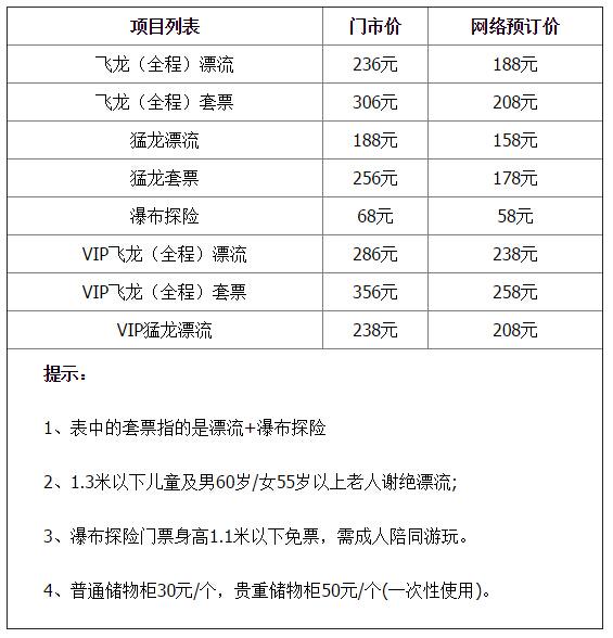 2017清远古龙峡漂流时间及门票预订 4月22日开漂