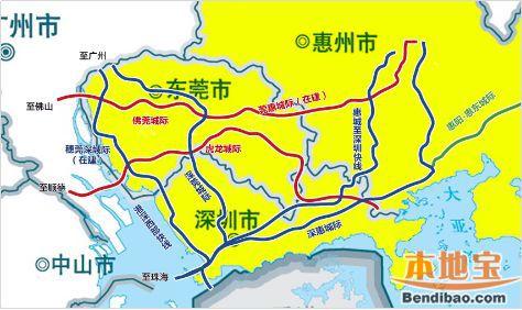 深惠城际轨道惠州段(开工开通+走向+站点+线路图+进展)