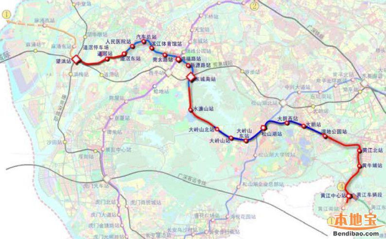 深圳地铁6号线支线何时开通 将与东莞1号线贯通运营图片