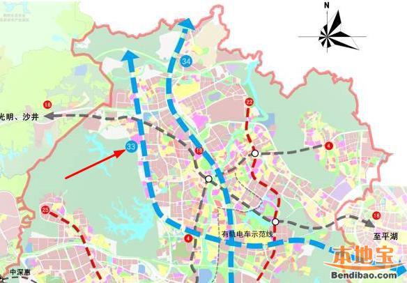 深圳地铁33号线(走向 站点 线路图 进展)