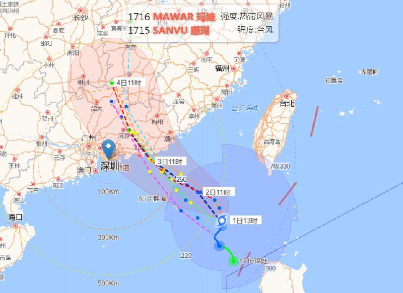 受台风玛娃影响 这些列车将暂时停止售票