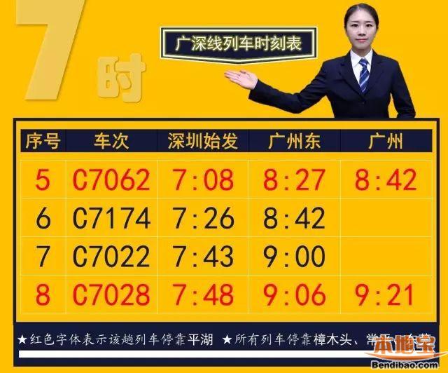深圳北站火车时刻表_9月21日起广深线部分城际列车不停平湖 附最新时刻表 - 深圳本地宝