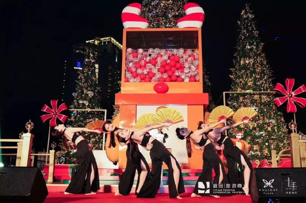 深圳益田假日广场2018圣诞节美陈装饰