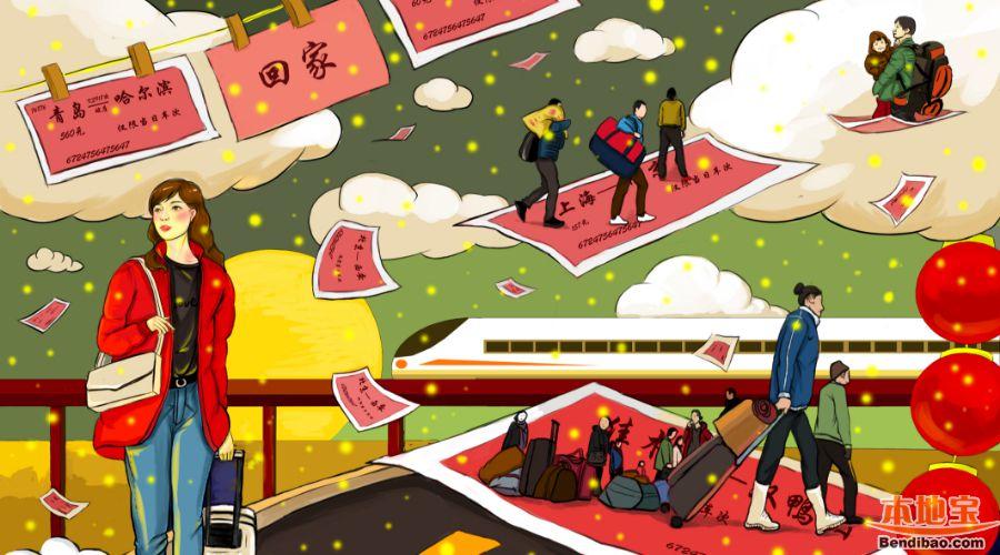 2019年春运火车票预售时间表(高清大图)