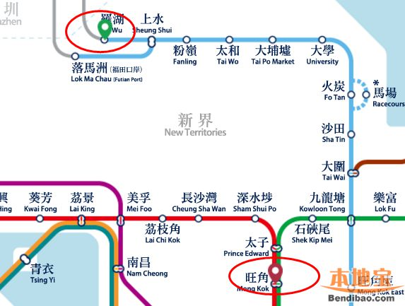 香港地铁票价查询指南(网站+线路图)