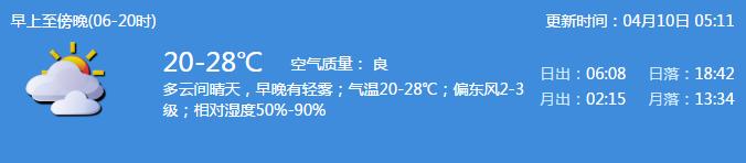4月10日深圳天气预报 最高温升至28℃