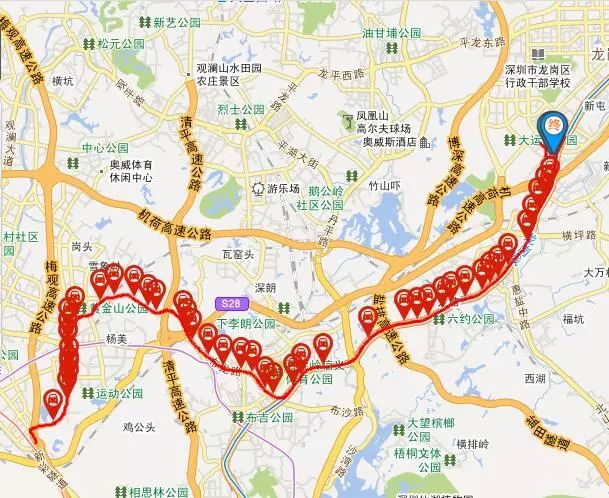 停靠94站的深圳公交812路 5日起拆分变2段