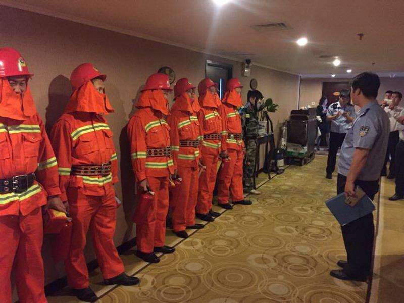 罗湖桂园辖区重点单位开展消防应急演练