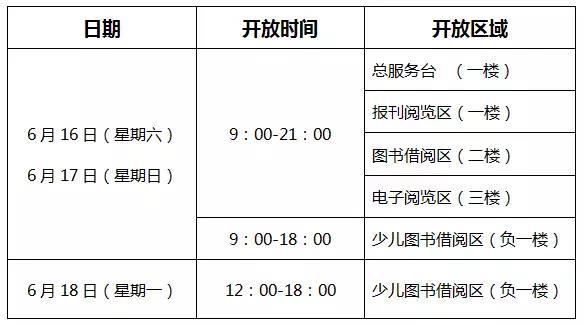 2018深圳盐田区图书馆端午开放时间