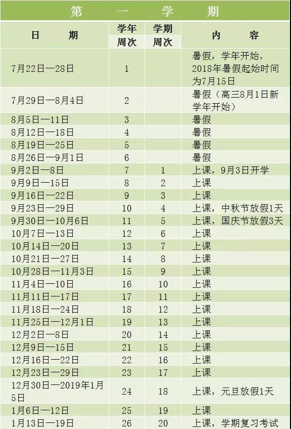 2018深圳中小学暑假放假时间