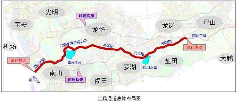 """龙岗区高速最新规划:机荷高速""""上天"""" 新建宝鹏通道"""
